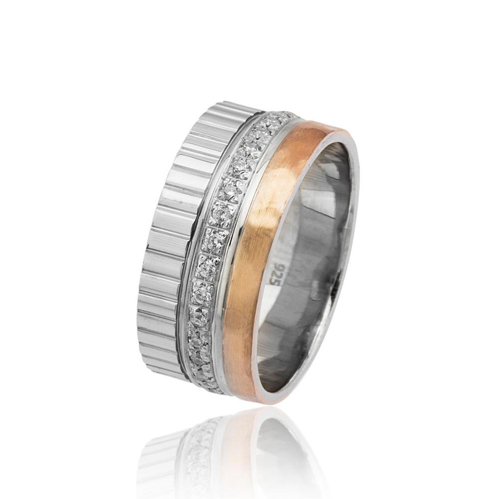 Women's Zircon Gemmed 925 Carat Silver Wedding Silver