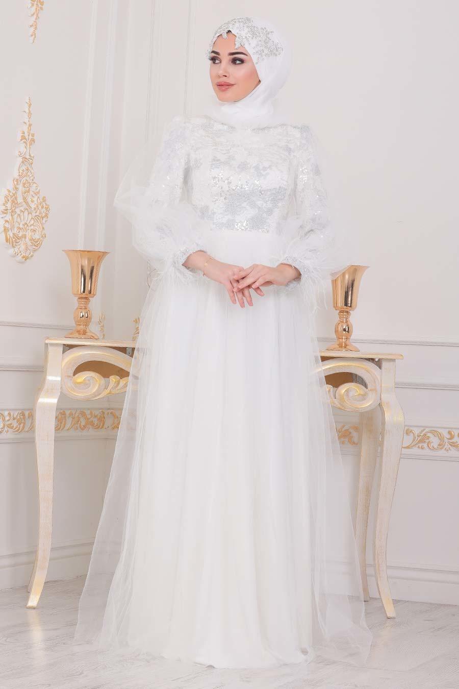 فستان سهرة اكرو مفصَل بدانتيل نسائي