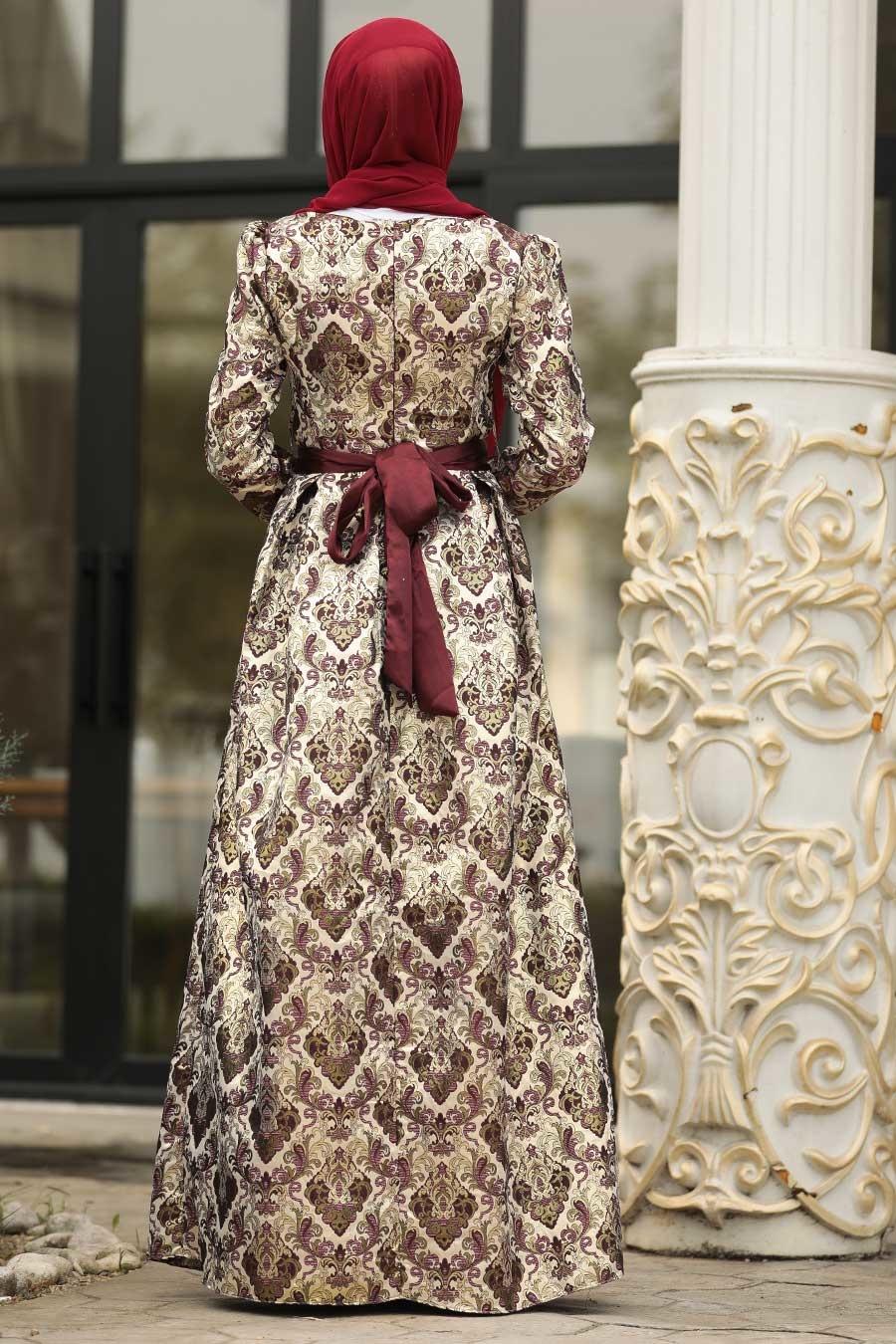 فستان سهرة جاكوارد نسائي
