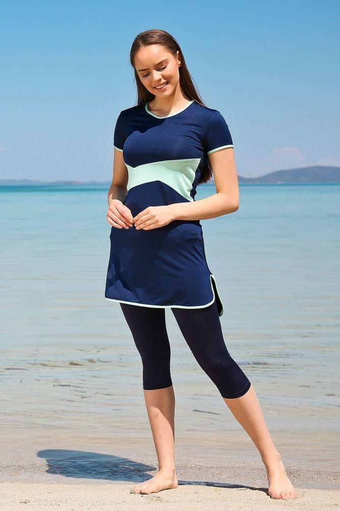 ملابس سباحة نصفية كحلي نسائية