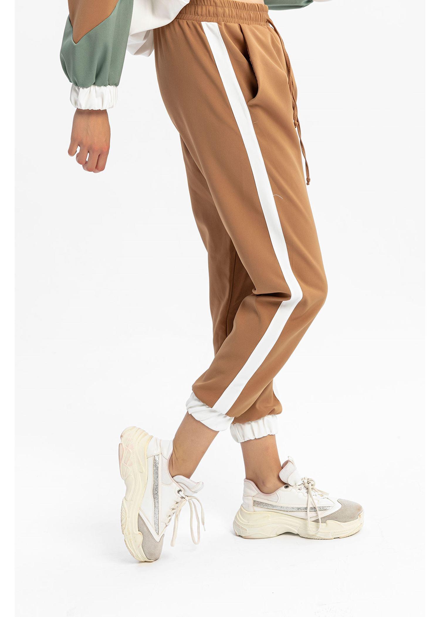 Women's Side Striped Mink Jogger Sport Pants