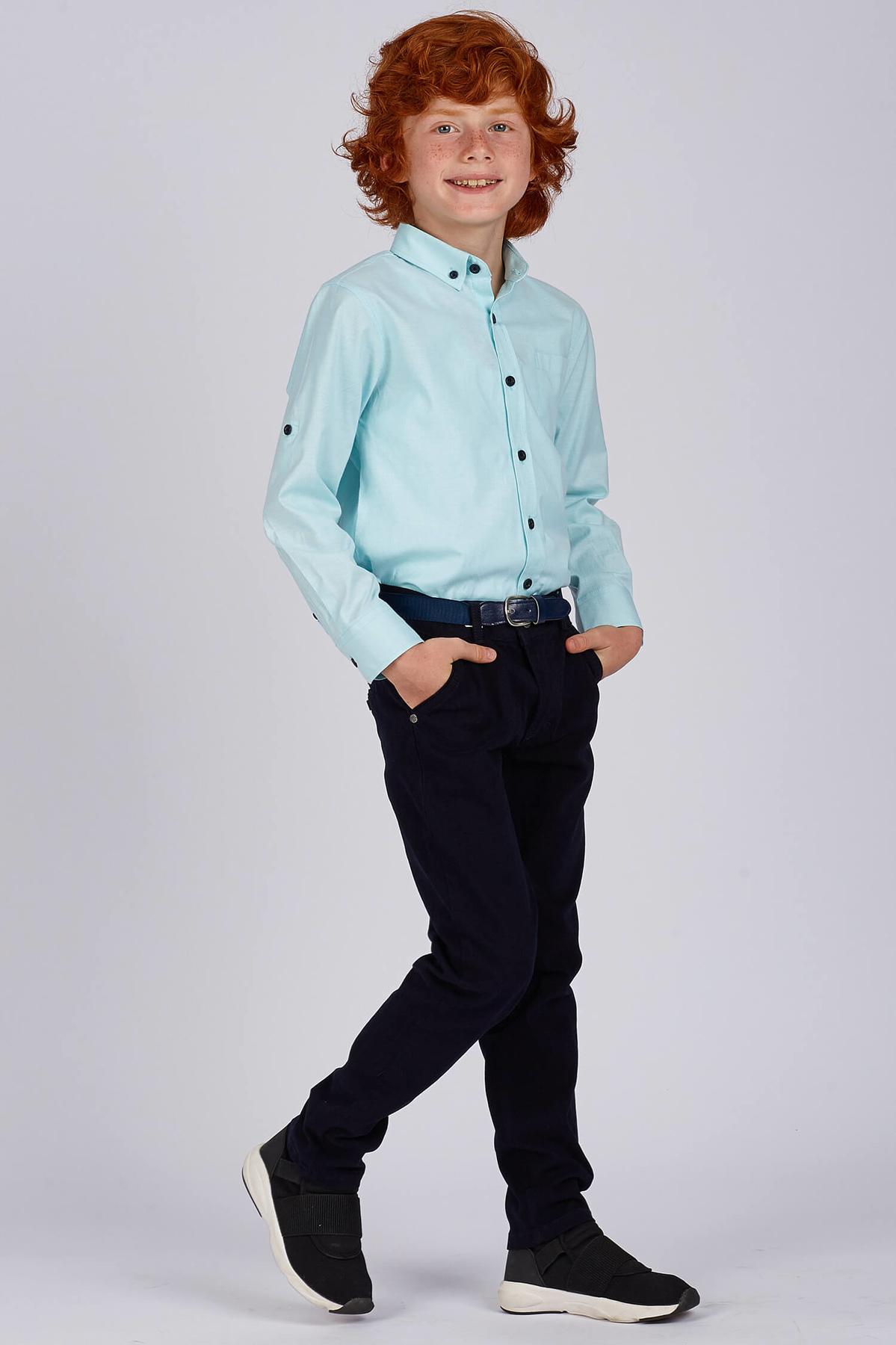 Pocket Navy Blue Pants