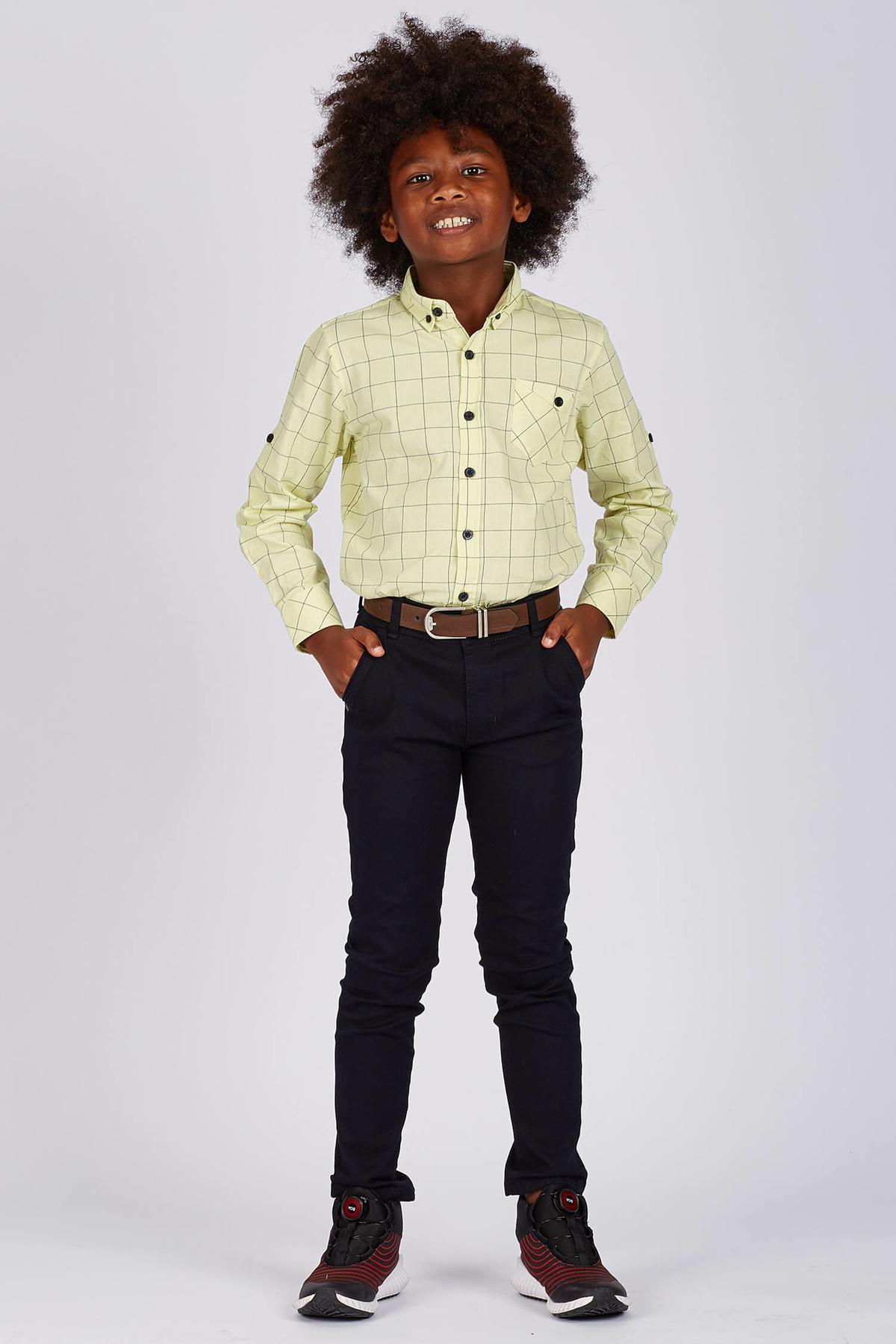 Boy's Pocket Navy Blue Pants