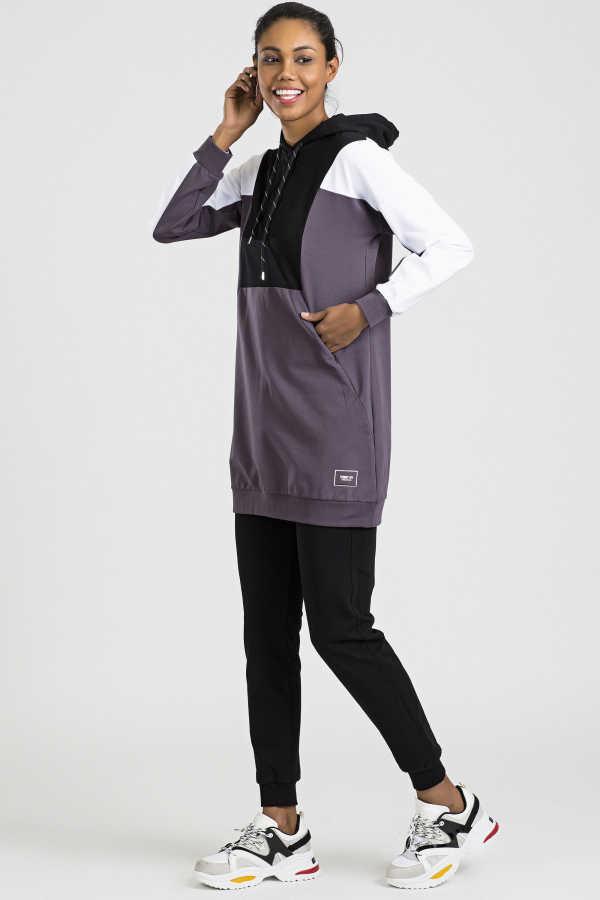 ملابس رياضية هودي بنفسجي نسائية