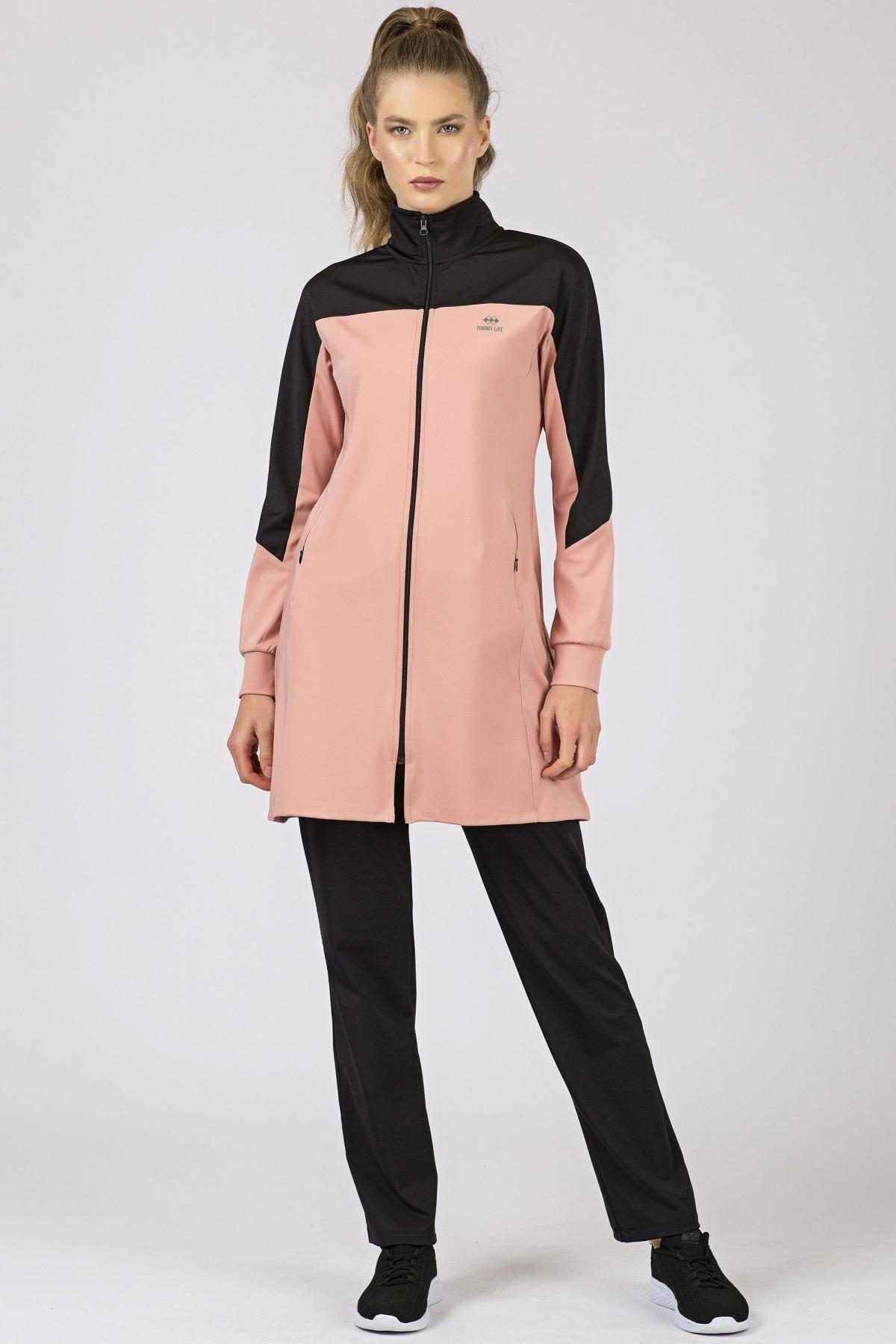Women's Powder Rose Scuba Fabric Sweat Suit- 2 Pieces