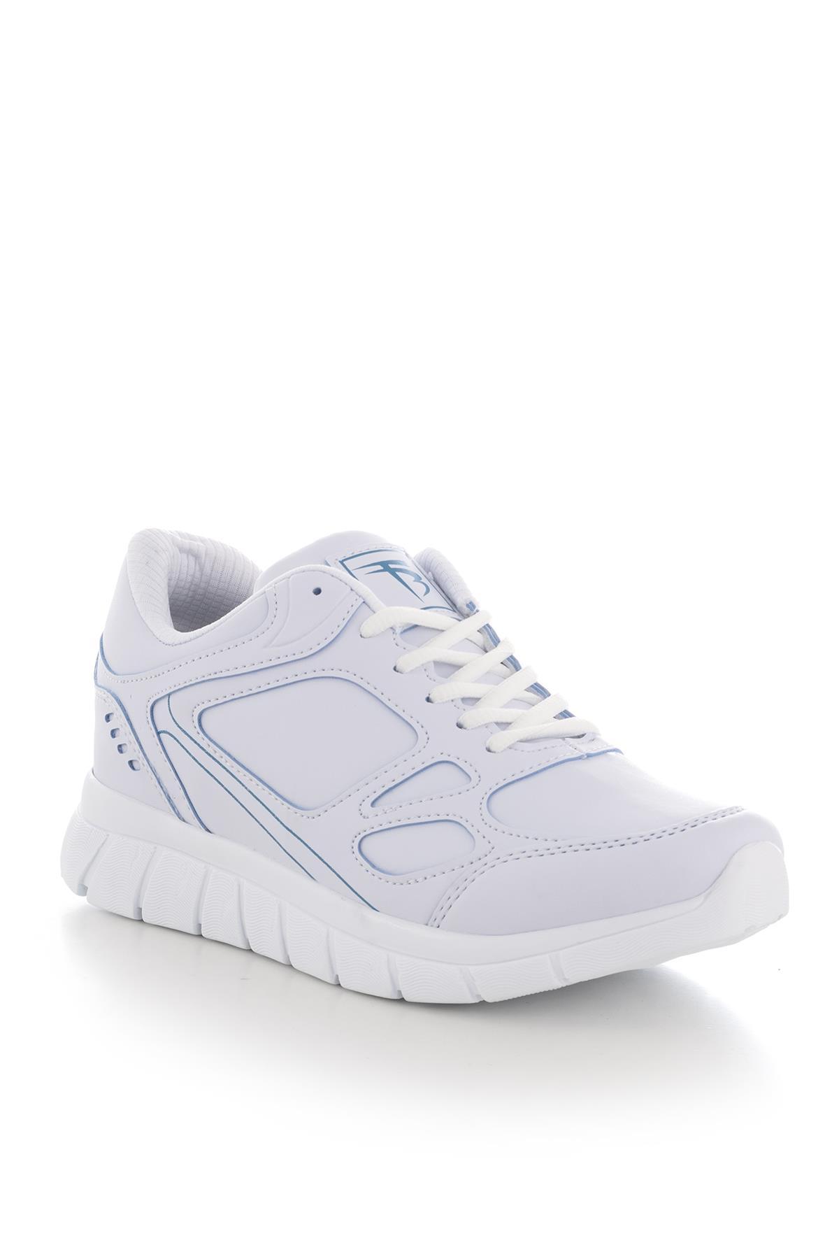 حذاء رياضة أزرق أبيض للجنسين