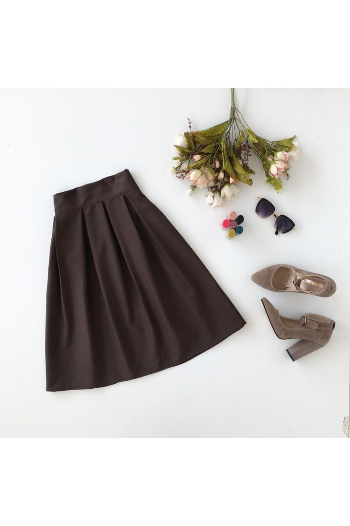 Women's Pleated Zipper Short Skirt