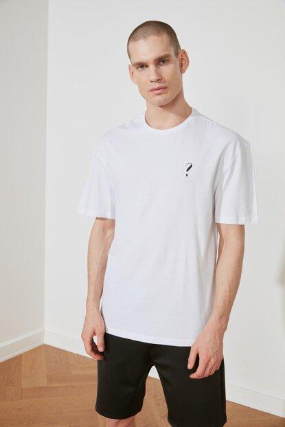 Men's Oversize White T-shirt