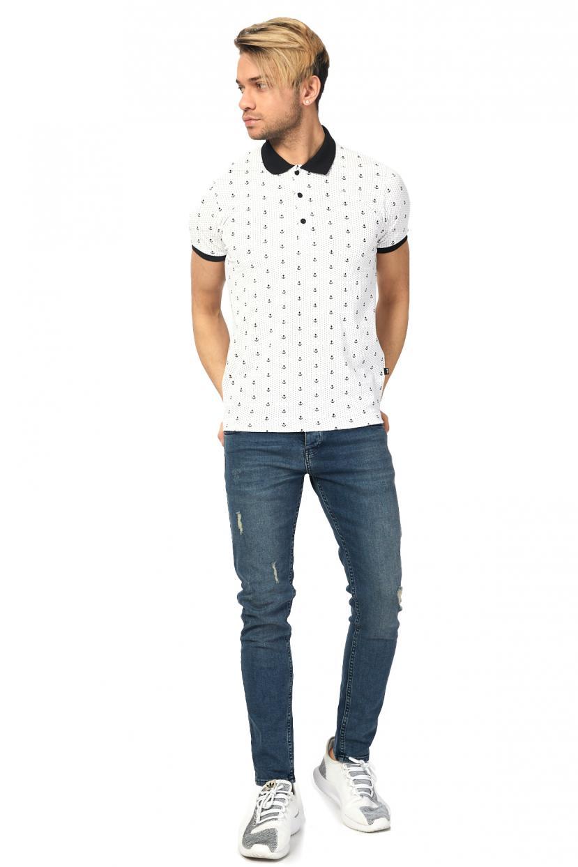 Printed Basic White Lycra T-shirt