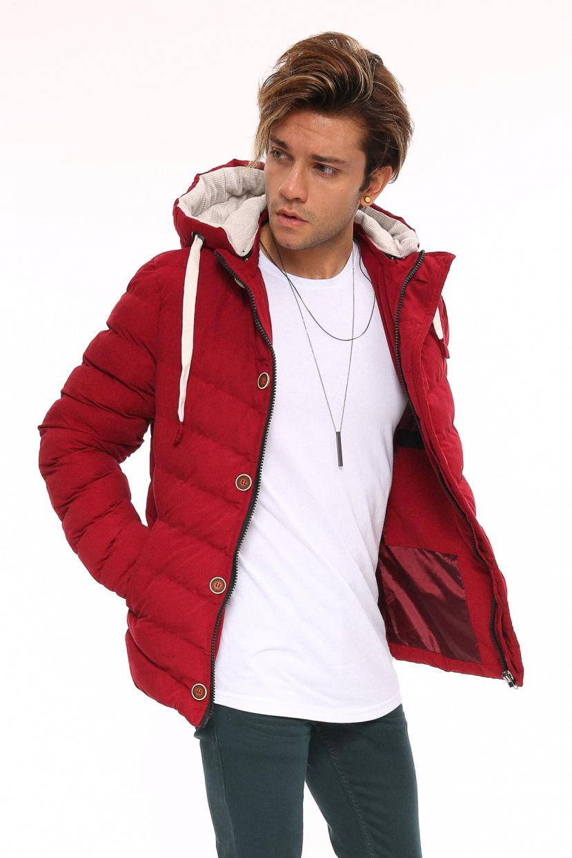 Men's Hooded Soft Blown Coat