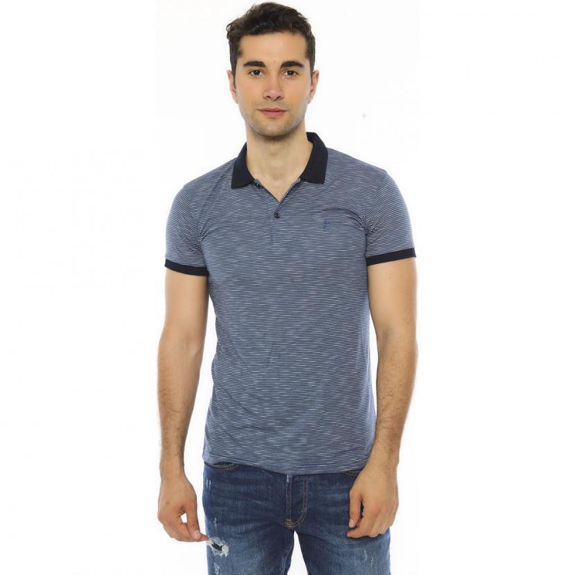 Men's Polo Collar Striped Slim Fit T-shirt