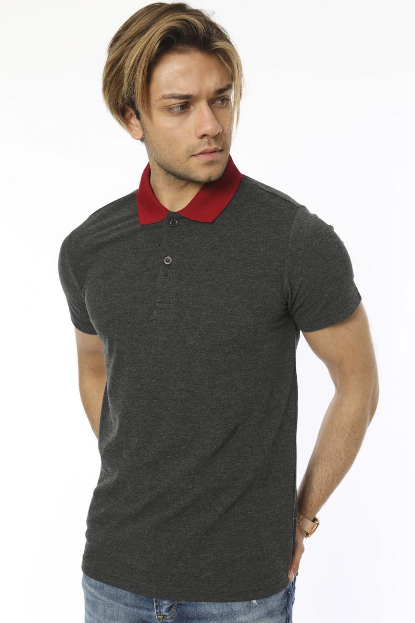 Polo Collar Smoky T-shirt
