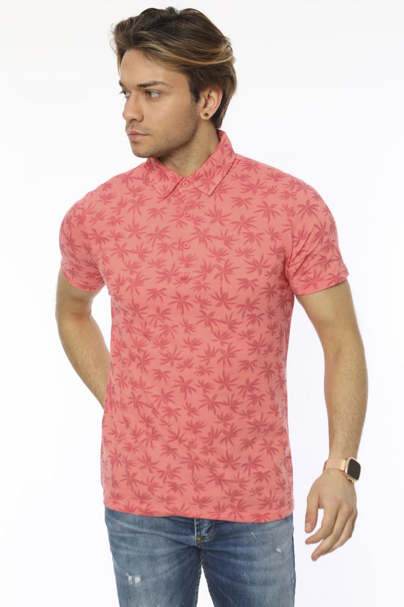 Men's Polo Collar Printed T-shirt