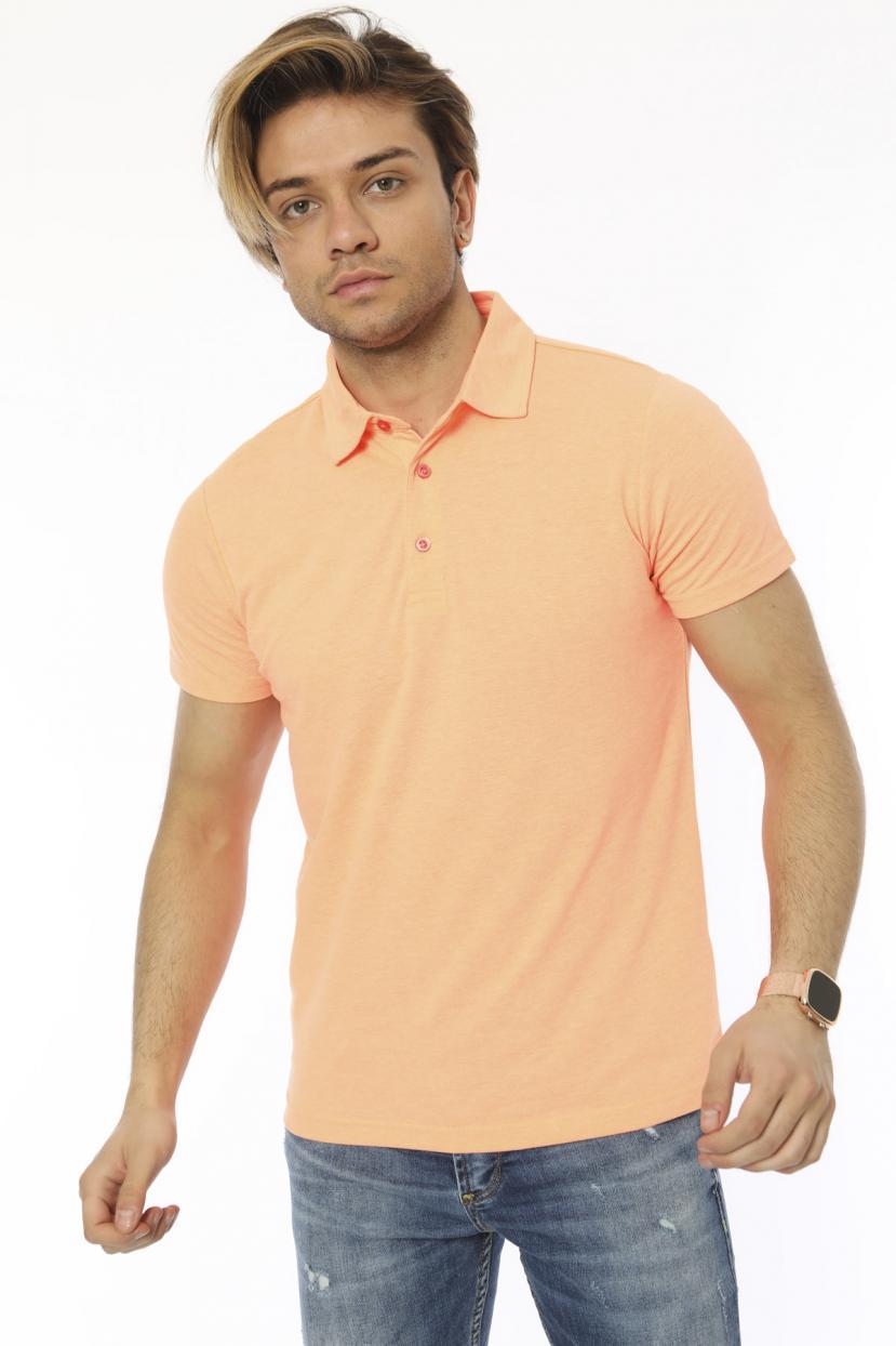 Men's Polo Collar Salmon T-shirt