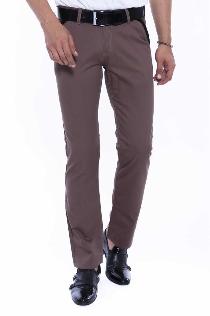 Men's Pocket Light Brown Cotton Pants