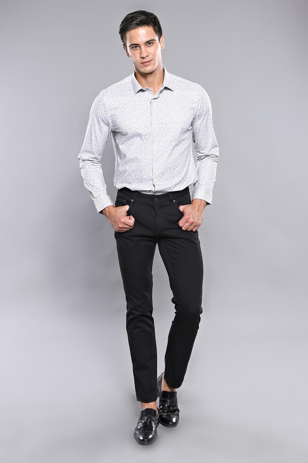 Men's Plain Pocket Black Pants