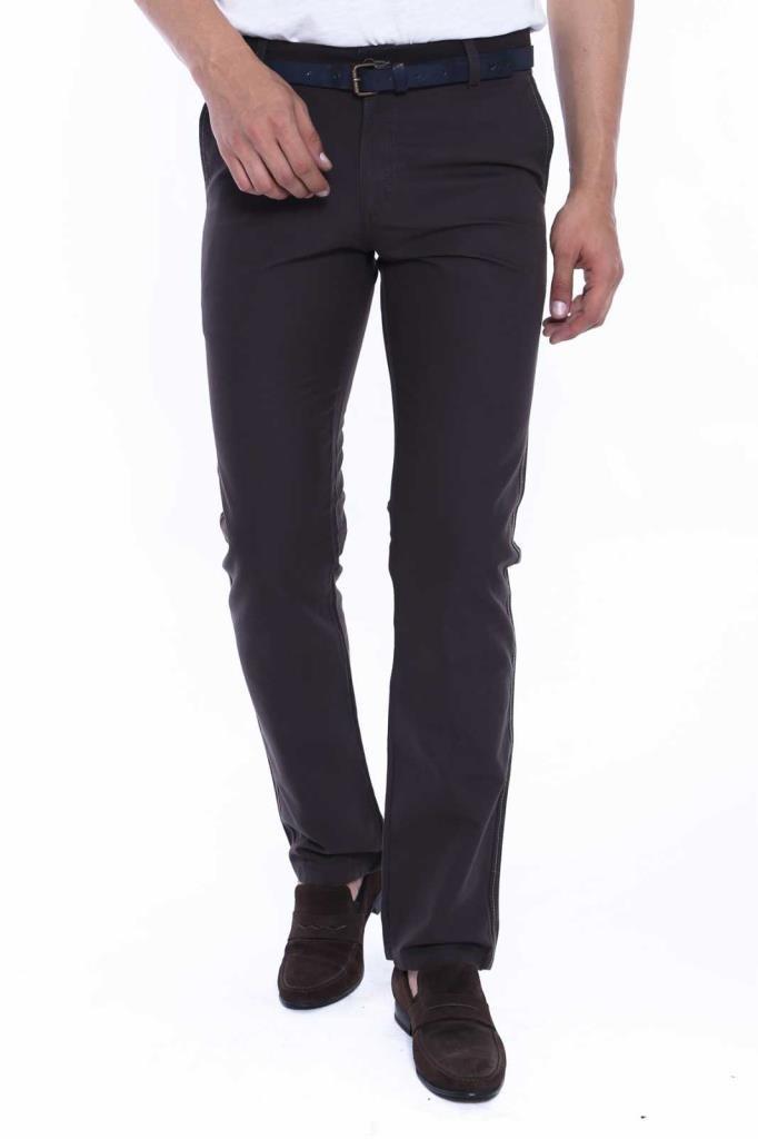 Men's Canvas Pocket Brown Cotton Pants