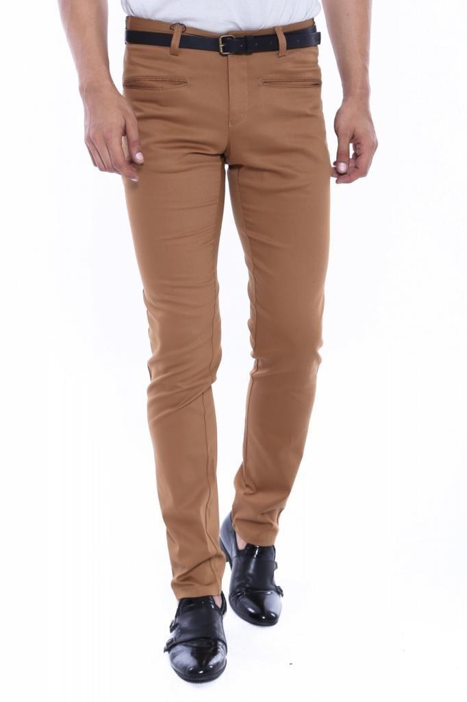 Brown Cotton Pants