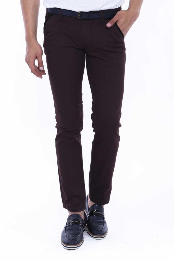 Men's Dark Brown Gabardine Pants