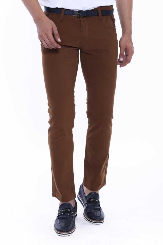 Brown Gabardine Pants