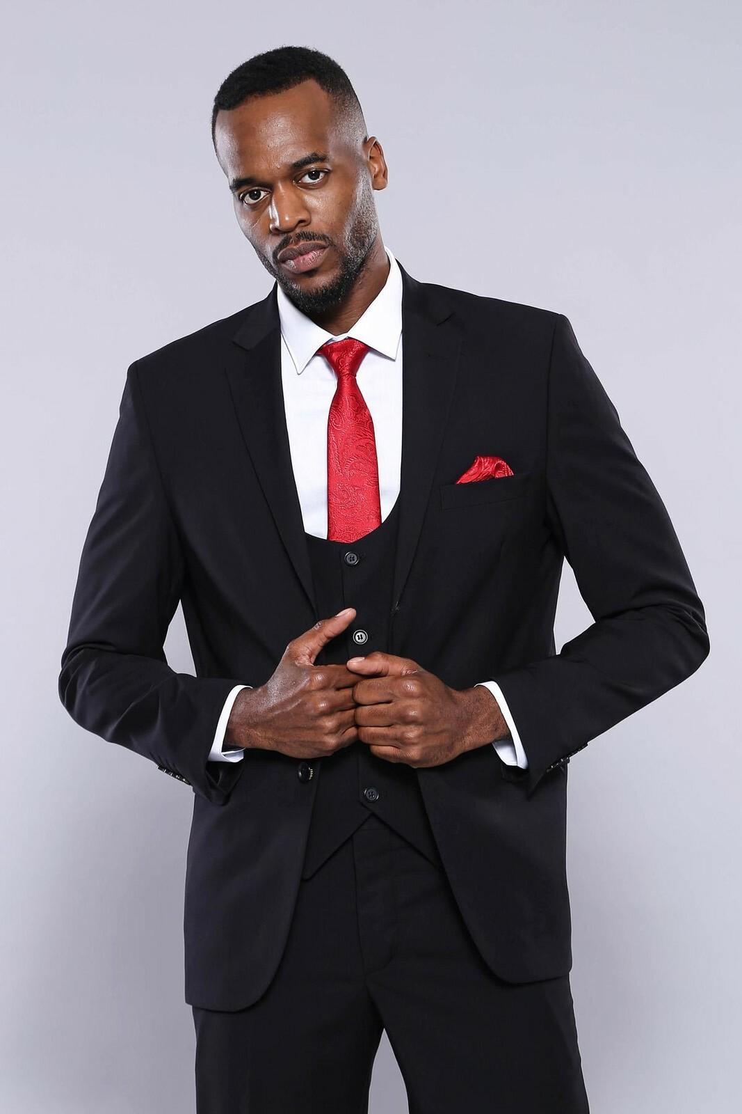 Men's Vested Formal Suit Set
