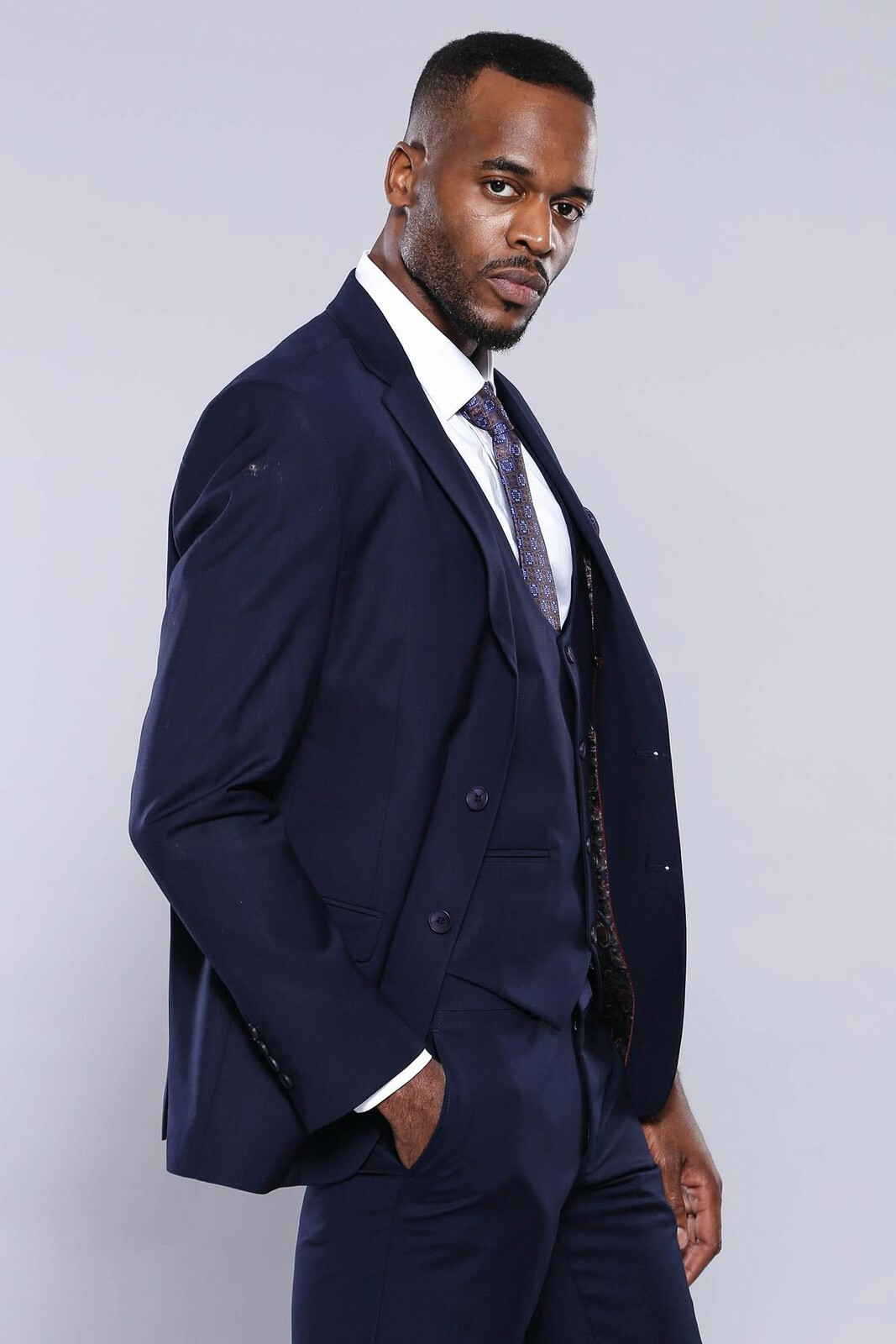 Men's Navy Blue Formal Suit Set
