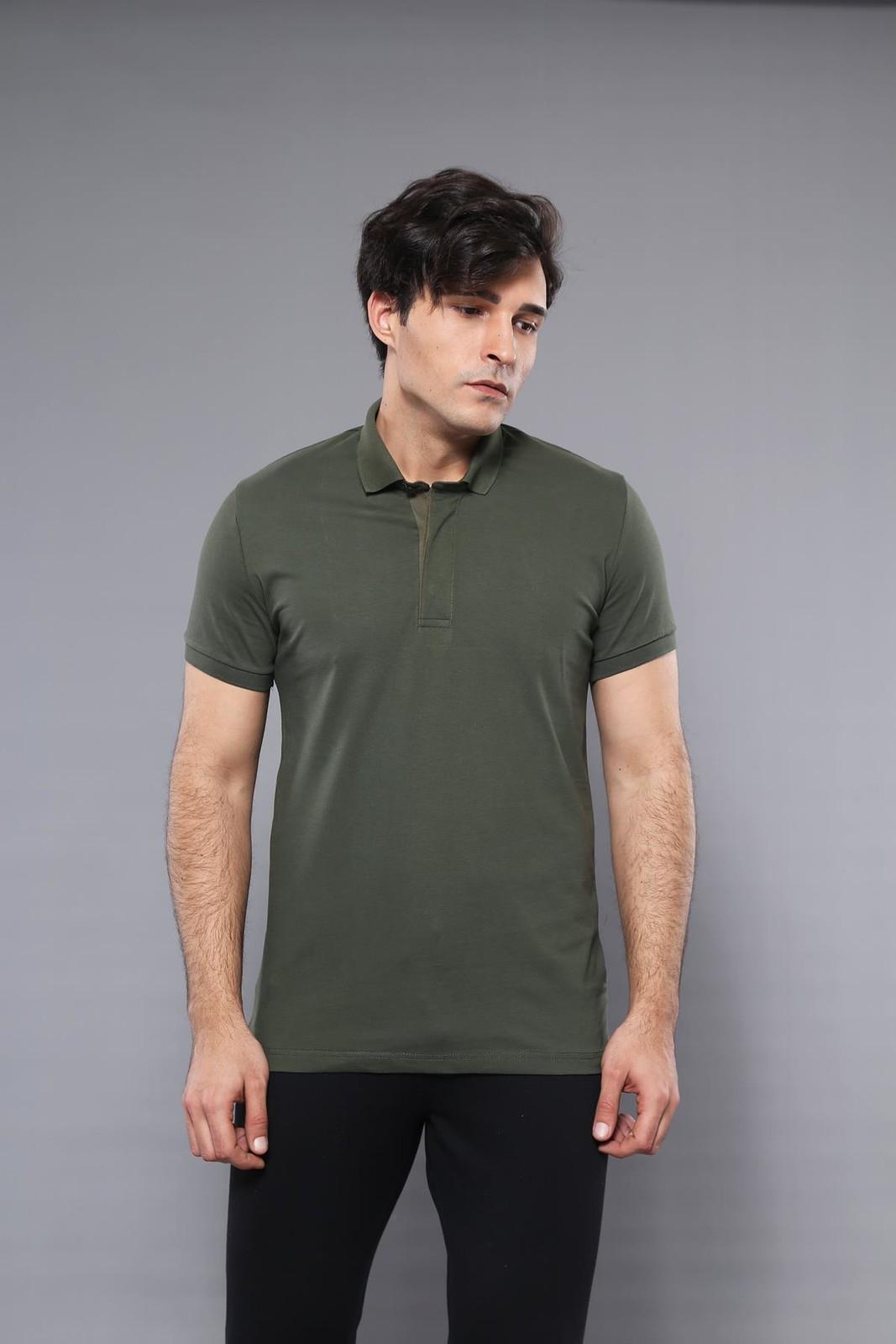 Men's Plain Khaki Polo T-shirt