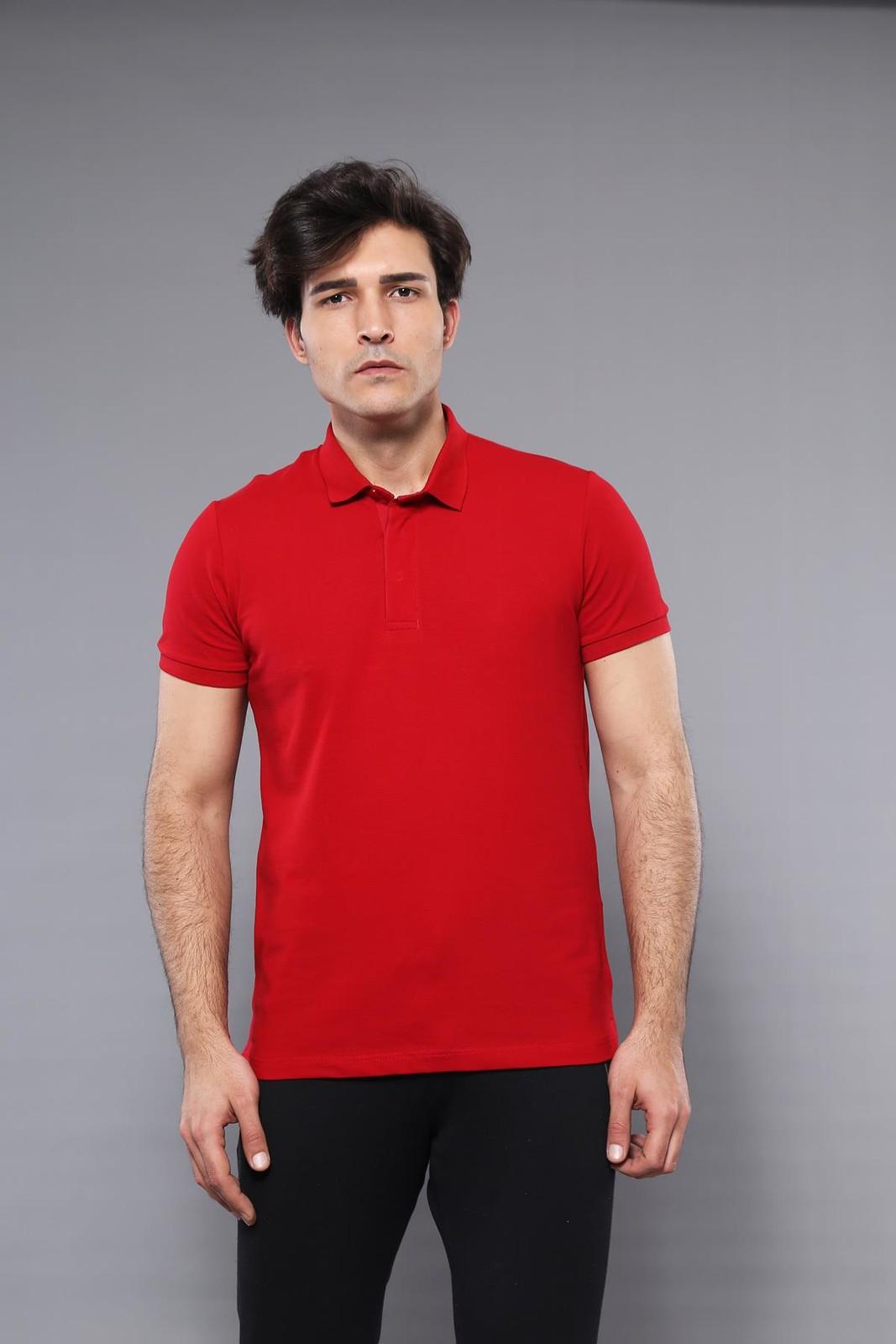 Men's Plain Red Polo T-shirt