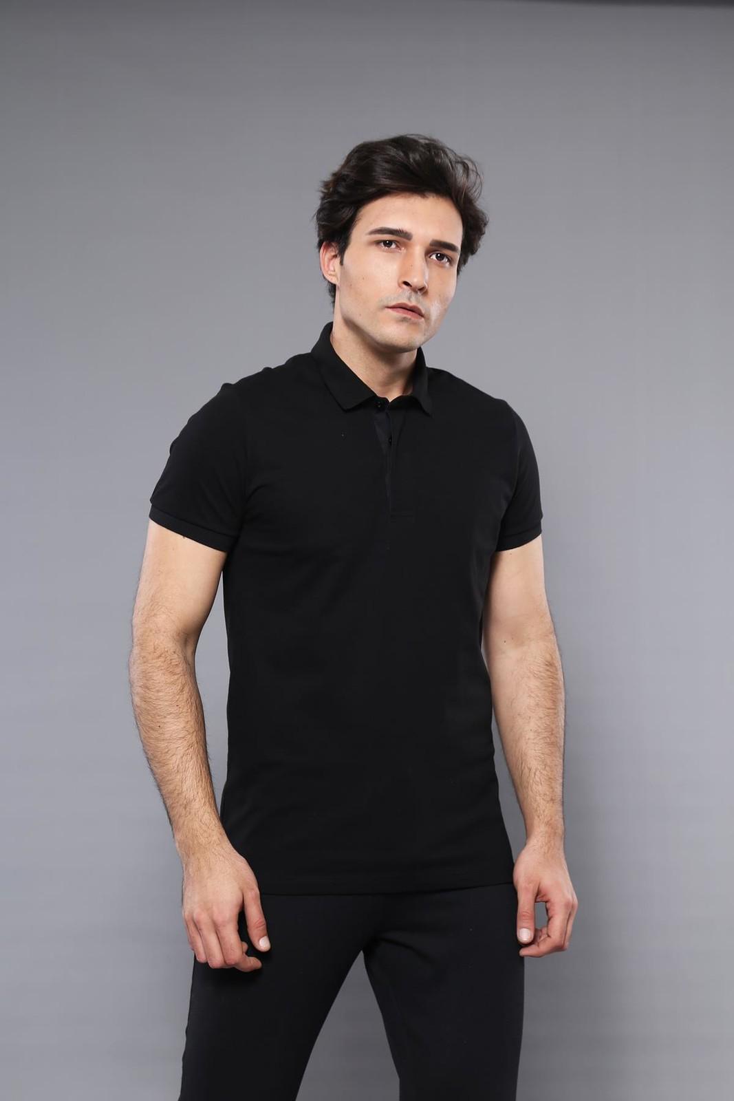 Men's Plain Black Polo T-shirt
