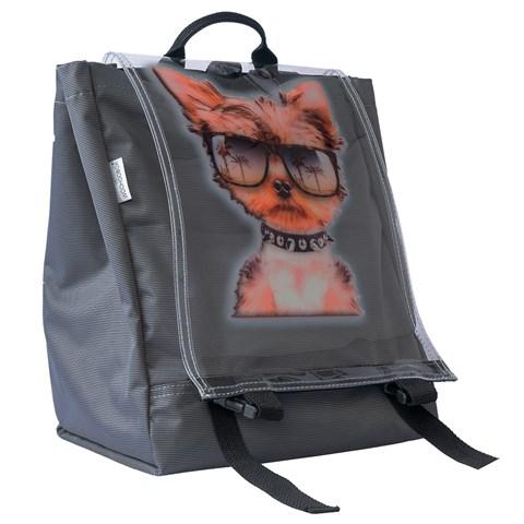 حقيبة ظهر رمادي بطبعة قطة جميلة للجنسين