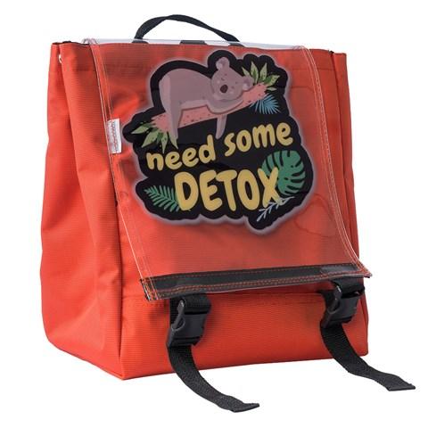 حقيبة ظهر برتقالي بطبعة كوالا للجنسين
