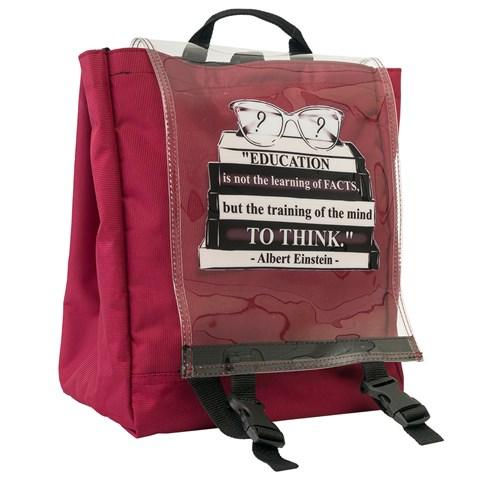 حقيبة ظهر عنابي بطبعة شعار للجنسين