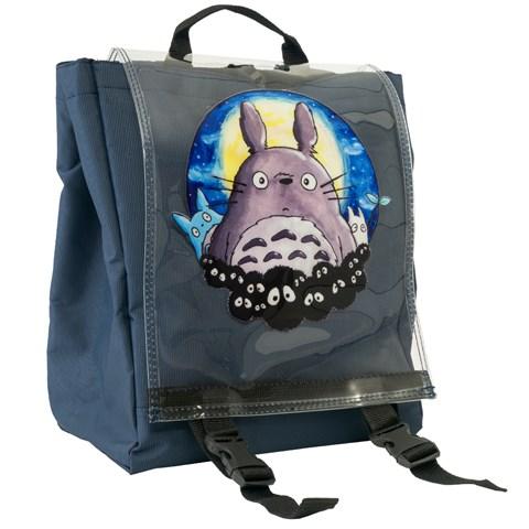 حقيبة ظهر كحلي بطبعة للجنسين