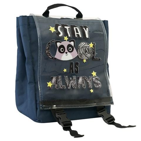 حقيبة ظهر كحلي مخططة للجنسين