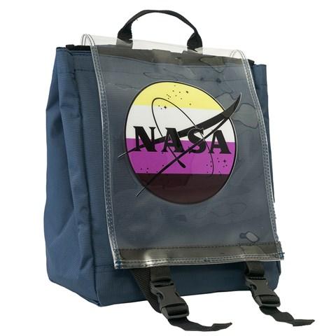 حقيبة ظهر كحلي بطبعة ناسا للجنسين