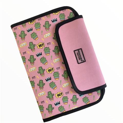 حقيبة تنظيم بطبعة صبار مع دفتر