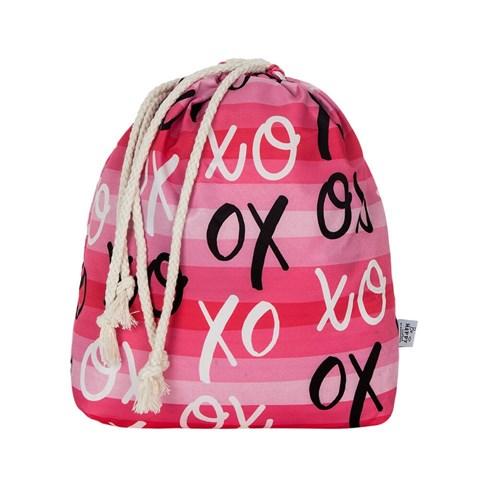 حقيبة داخلية وردي بطبعة