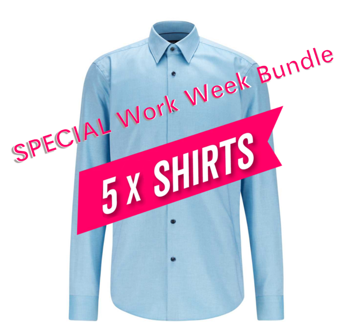SPECIAL Work Week Bundle (5 Pcs shirts)