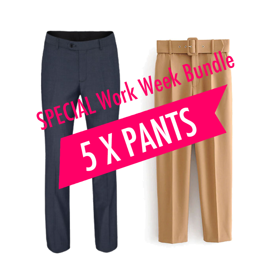 SPECIAL Work Week Bundle (5 Pcs of Pants)