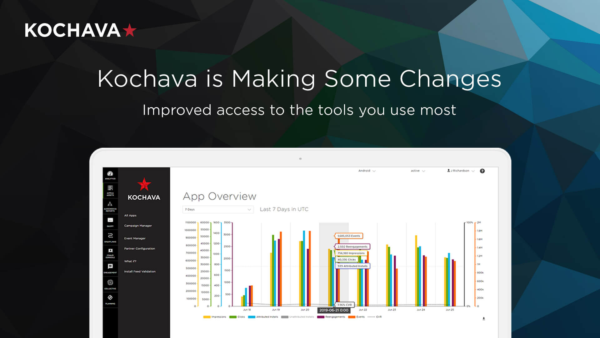 The new Kochava user interface