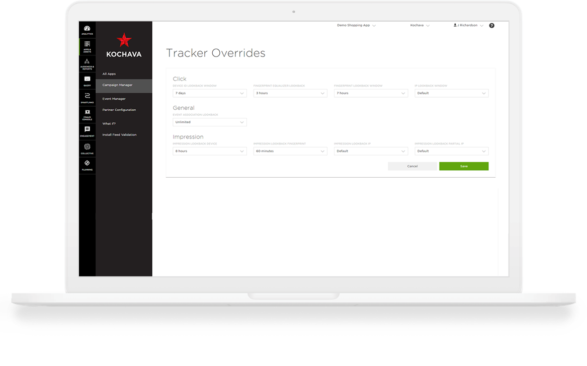 Marketing Attribution Tools | Kochava Configurable Attribution