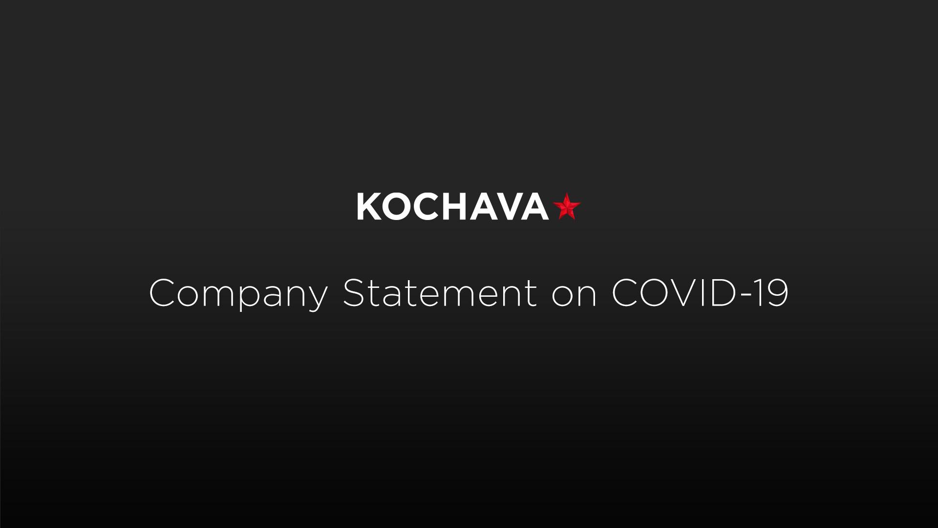COVID-19 Kochava statement