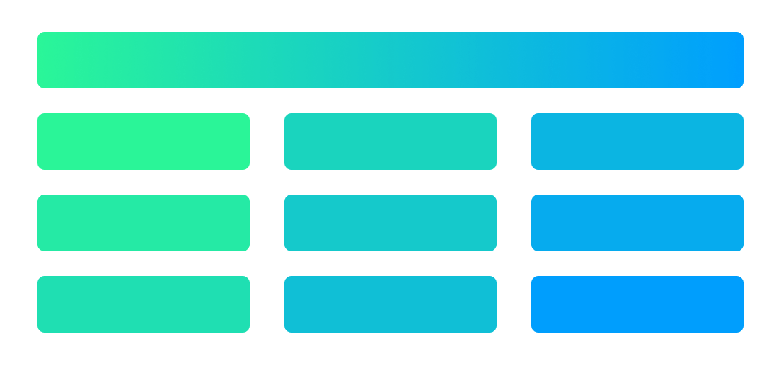 CSS columns example with content that contain all columns width