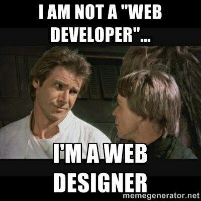 A Web Developer and a Web Designer