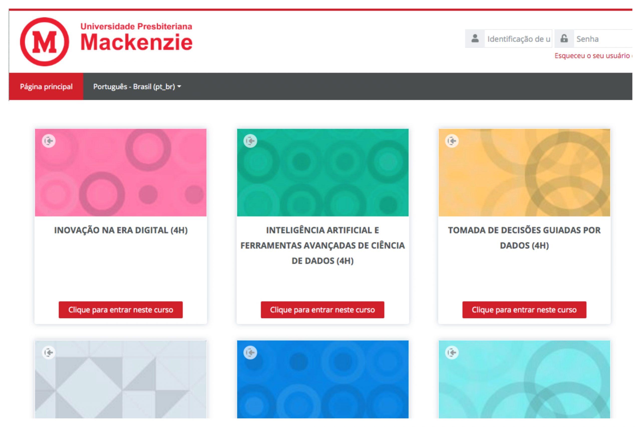 Mackenzie oferece cursos online gratuitos na área da tecnologia