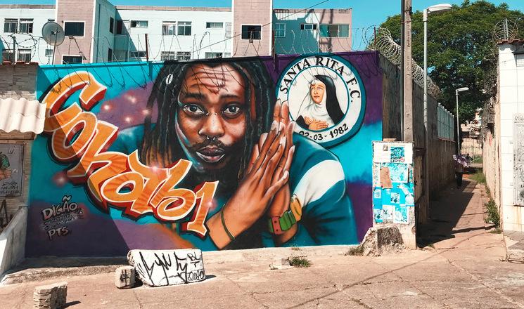 Cria de Itaquera, rapper Rincon Sapiência ganha muro grafitado em sua homenagem na Cohab 1