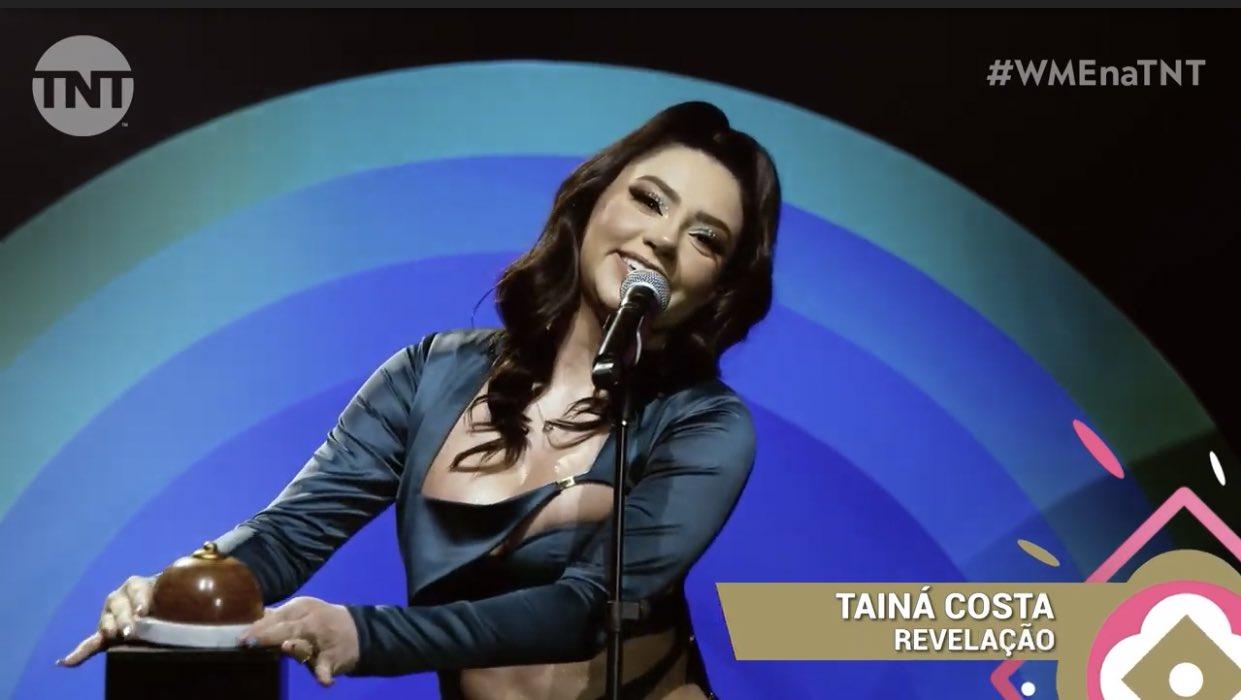 """Tainá Costa ganha como """"Revelação"""" no WME, primeiro prêmio brasileiro totalmente dedicado às mulheres do universo musical"""