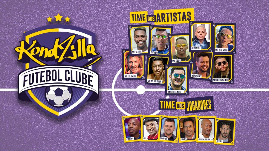 KondZilla F.C Beneficente 2020 convoca partida em prol da CUFA com MC's do funk e ex-jogadores do  Corinthians e do Palmeiras, como Amaral e Galeano