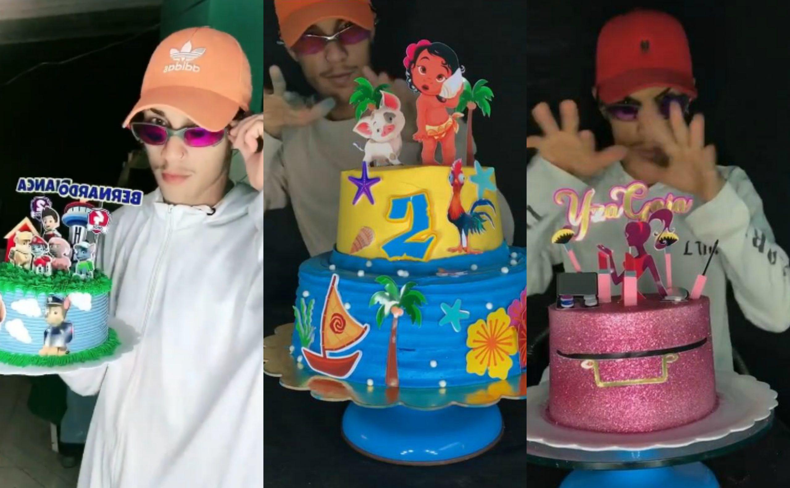 Dançando o magrão no Tik Tok, o confeiteiro Alexandre Ferreira viralizou com seus bolos