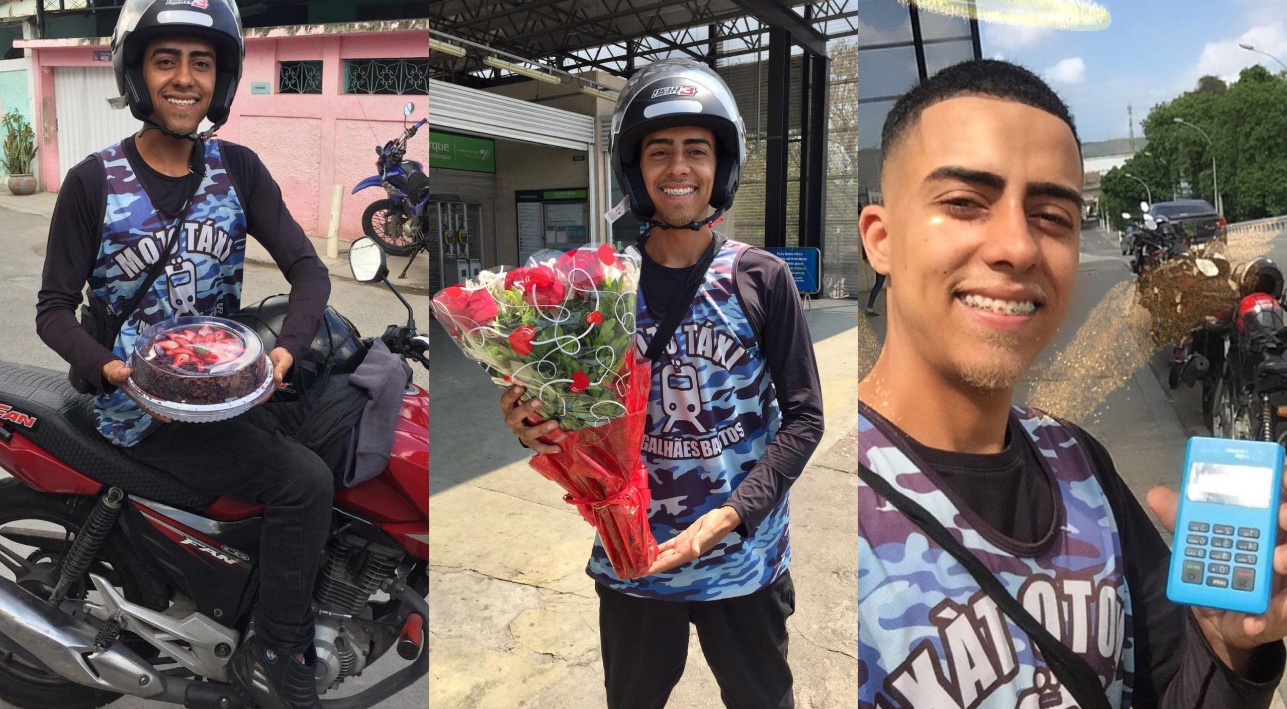 Conhecido como MotoTáxi do Amor, Gabriel quase precisou ficar dois anos sem pilotar após acidente